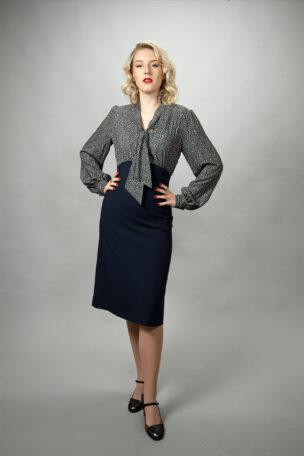 Sabrina elegantes Tageskleid mit Schlupp