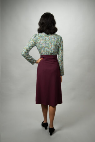 Gilda elegantes Tageskleid im Stil der 40er