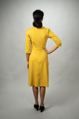 Bequemes tailliertes Jerseykleidk Lisbeth mit Rock in A-Linie