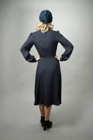 langärmeliges 40er Blusenkleid Lauren