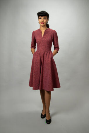 Lisbeth tailliertes Tellerrockkleid