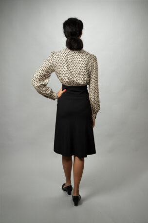 Jamie elegantes Tageskleid mit Stehkragen