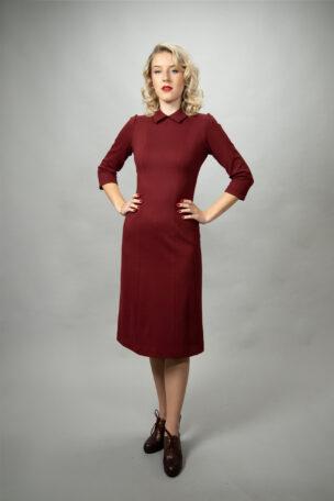 Elvira 50er Jahre Jerseykleid mit Kragen